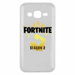 Чехол для Samsung J2 2015 Fortnite season 2 gold