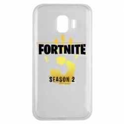 Чехол для Samsung J2 2018 Fortnite season 2 gold