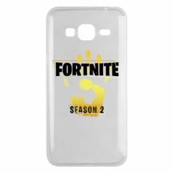 Чехол для Samsung J3 2016 Fortnite season 2 gold