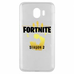 Чехол для Samsung J4 Fortnite season 2 gold