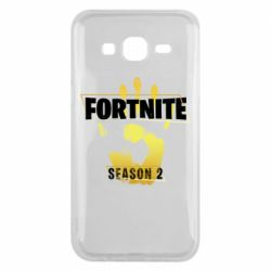 Чехол для Samsung J5 2015 Fortnite season 2 gold