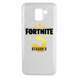 Чехол для Samsung J6 Fortnite season 2 gold