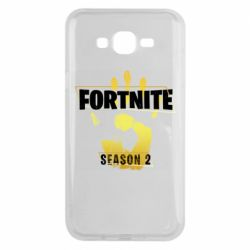 Чехол для Samsung J7 2015 Fortnite season 2 gold