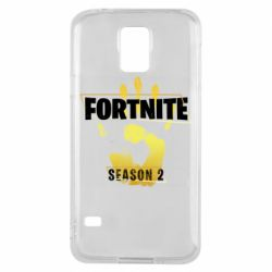 Чехол для Samsung S5 Fortnite season 2 gold