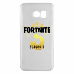 Чехол для Samsung S6 EDGE Fortnite season 2 gold