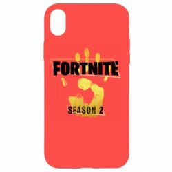 Чехол для iPhone XR Fortnite season 2 gold