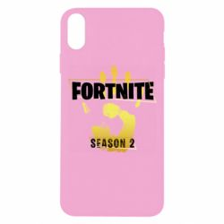 Чехол для iPhone Xs Max Fortnite season 2 gold