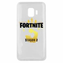 Чехол для Samsung J2 Core Fortnite season 2 gold