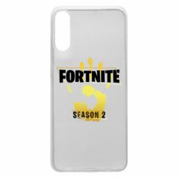Чехол для Samsung A70 Fortnite season 2 gold