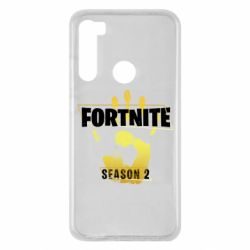 Чехол для Xiaomi Redmi Note 8 Fortnite season 2 gold