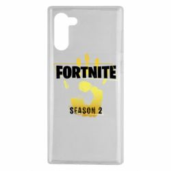 Чехол для Samsung Note 10 Fortnite season 2 gold