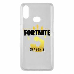 Чехол для Samsung A10s Fortnite season 2 gold