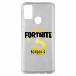 Чехол для Samsung M30s Fortnite season 2 gold