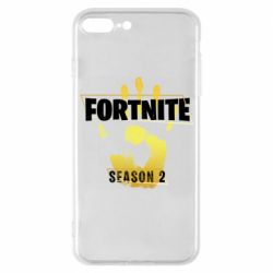 Чехол для iPhone 7 Plus Fortnite season 2 gold