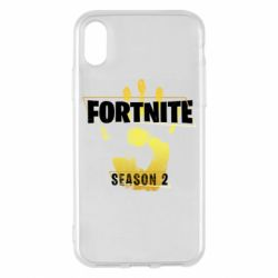 Чехол для iPhone X/Xs Fortnite season 2 gold