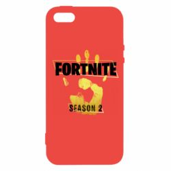 Чехол для iPhone5/5S/SE Fortnite season 2 gold