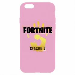 Чехол для iPhone 6/6S Fortnite season 2 gold