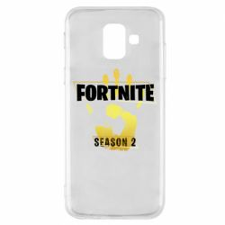 Чехол для Samsung A6 2018 Fortnite season 2 gold