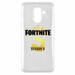 Чехол для Samsung A6+ 2018 Fortnite season 2 gold
