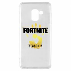 Чехол для Samsung A8 2018 Fortnite season 2 gold