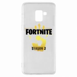 Чехол для Samsung A8+ 2018 Fortnite season 2 gold