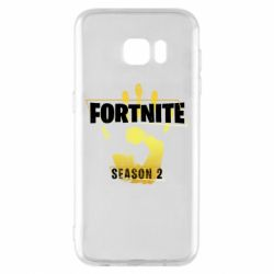 Чехол для Samsung S7 EDGE Fortnite season 2 gold