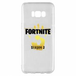 Чехол для Samsung S8+ Fortnite season 2 gold