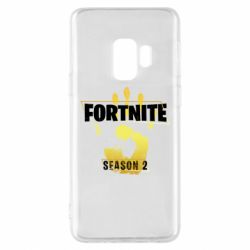 Чехол для Samsung S9 Fortnite season 2 gold