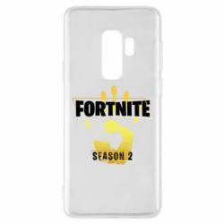 Чехол для Samsung S9+ Fortnite season 2 gold