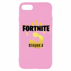 Чехол для iPhone 8 Fortnite season 2 gold