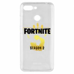 Чехол для Xiaomi Redmi 6 Fortnite season 2 gold