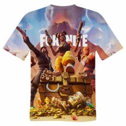Мужская 3D футболка Fortnite season 8 - FatLine