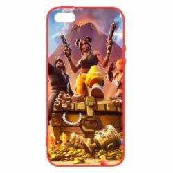 Чехол для iPhone5/5S/SE Fortnite season 8 - FatLine