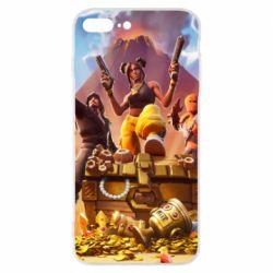 Чехол для iPhone 8 Plus Fortnite season 8 - FatLine