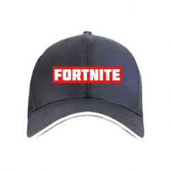 Кепка Fortnite text bacgraund red