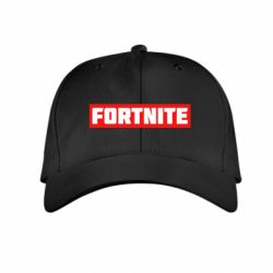 Детская кепка Fortnite text bacgraund red