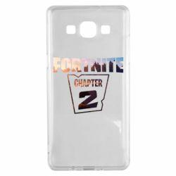 Чехол для Samsung A5 2015 Fortnite text chapter 2