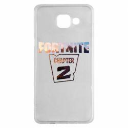 Чехол для Samsung A5 2016 Fortnite text chapter 2