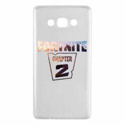 Чехол для Samsung A7 2015 Fortnite text chapter 2
