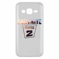 Чехол для Samsung J2 2015 Fortnite text chapter 2