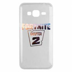 Чехол для Samsung J3 2016 Fortnite text chapter 2