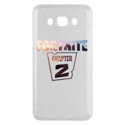 Чехол для Samsung J5 2016 Fortnite text chapter 2