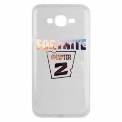 Чехол для Samsung J7 2015 Fortnite text chapter 2