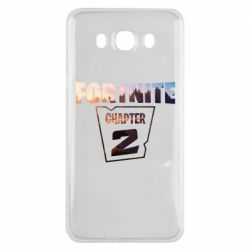 Чехол для Samsung J7 2016 Fortnite text chapter 2