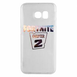 Чехол для Samsung S6 EDGE Fortnite text chapter 2