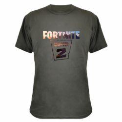 Камуфляжная футболка Fortnite text chapter 2