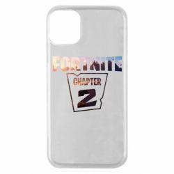Чехол для iPhone 11 Pro Fortnite text chapter 2