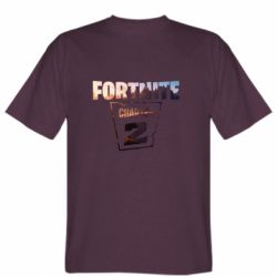 Мужская футболка Fortnite text chapter 2