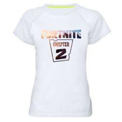 Женская спортивная футболка Fortnite text chapter 2