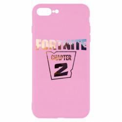 Чехол для iPhone 7 Plus Fortnite text chapter 2